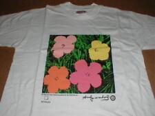 Andy Warhol girl boy childs S 6-8 Flower Print original 1996 t-shirt New in bag