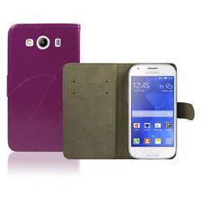 Custodie portafoglio viola per Samsung Galaxy Ace