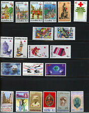 Thailand- Mainly 1980's Two Pages-Several Mnh Sets and Singles Cat Value $26+