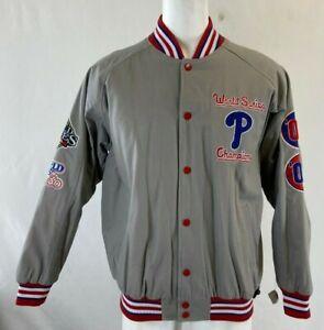 PHILADELPHIA  PHILLIES Dual 1980/2008 World Series Champs Jackets NEW