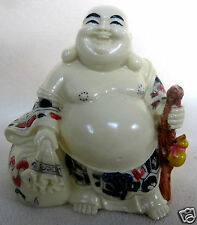 Feng Shui Laughing Buddha Carrying Wealth Sack Gourd for Health &  Prosperity