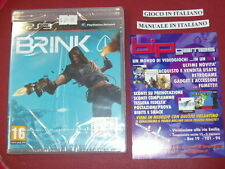 BRINK PS3 PLAYSTATION 3 PAL ITA NUOVO SIGILLATO