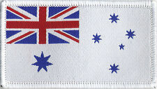 Royal Australian Navy Flag, Woven Badge Patch 8cm x 4.5cm