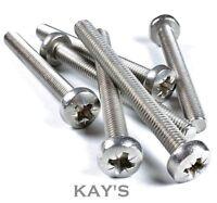 M6 / 6mm Stainless Steel Pozi Pan Head Machine Screws