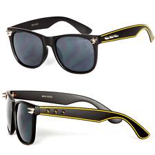 9dd7920025 Retro Clásico Montura Cuadrada Tachuela Gafas de Sol - Amarillo / Lente  Negra