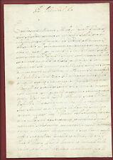 Lettera Manoscritta da J B Colbert per Contrabbando Navi in acque Italiane 1725