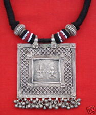 ETHNIC TRIBAL OLD SILVER NECKLACE PENDANT BELLYDANCE IN