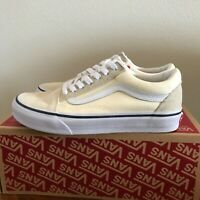 Vans Old Skool Skate Shoes Low Top White/True White Mens 5.5 (Women Size 7)
