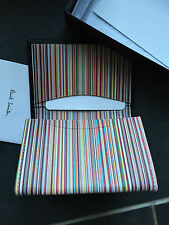 Paul Smith Multi Stripe internal  Coin Pouch /Notes/ CC Wallet - Boxed -