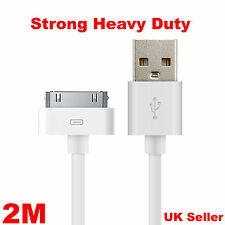 Extra Long 2m USB Data Sync Charger Cable Lead for iPhone 4 4S iPad 2 3 iPod UK