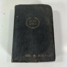Vintage Holy Bible Cambridge Cameo Black Spanish Morocco Leather Thumb Index