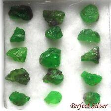 4 ct. 15 Pcs. 100% Unheated Natural Rough Green Emerald @ FREE SHIP