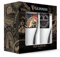Guinness Boxed Tulip Beer Glasses (Set of 2), 20 Oz