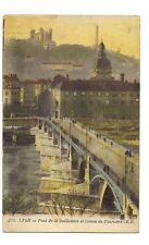 lyon  pont de la guillotière et coteau de fourvière
