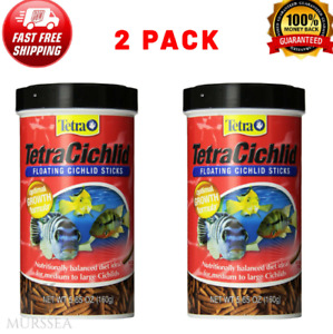 2-Pack TetraCichlid Floating Cichlid Sticks For Medium Large Cichlids 5.65 OUNCE