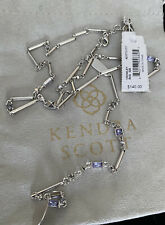 New Kendra Scott Crowley Y Necklace In Silver $140.00