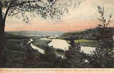 Little Falls New York Mohawk Valley Birdseye View Antique Postcard K60763