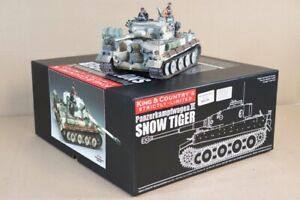 KING & COUNTRY WSS177SL WWII GERMAN FORCES SNOW TIGER TANK BOXED nv