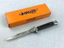 Haller Stiletto Taschenmesser Messer Griff aus Leinen-Micarta - 42947
