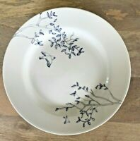 "Ciroa Fine Bone China Hirondelle 10.75"" Dinner Plates White Blue Bird Set of 4"