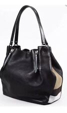 AUTHENTIC New Burberry Women's MEDIUM Maidstone Leather & Canvas Handbag Black