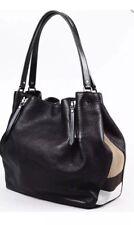 AUTHENTIC New Burberry Women s MEDIUM Maidstone Leather   Canvas Handbag  Black 7dd0273a1d
