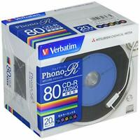 Verbatim Blank Music CDR Discs 80min 24x CD-R Color Mix Made in Japan