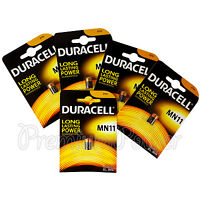 5 x Duracell Alkaline MN11 6V batteries E11A A11 WE11 CX21A L1016 Remote Alarms
