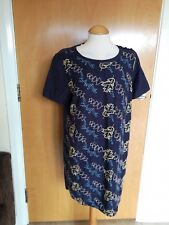 Ladies WHITE STUFF Dress Size 14 16 Navy Embroidered Tunic Smart Casual Day