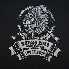 NAVAJO ROAD DEVILS HIGHWAY TRUCK STOP AMERICAN INDIAN SKULL TRUCKER T SHIRT XL