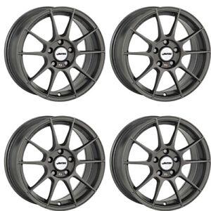 4 Autec WIZARD Winter Felgen 6,5x15 4x108 GUN für Peugeot 1007 206 207 208 307 3