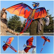 100m Kite Line 3D Dragon Kite With Tail Kites For Adult Kids Kite Flying Outdoor