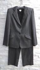 Armani Collezioni Gray Wool Black Metallic Blazer Top Pants Skirt 4pc Suit 6
