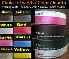 "20mm 1"" 32mm 36mm 50mm Polyester Webbing DIY Handbag/Camera shoulder strap/belt"