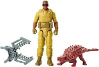 Mattel Official Licenced Jurassic World Action Figure Mercenary and Ankylosaurus