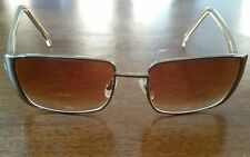 70s Disco Groovy Gucci Eyeglasses Rx BOHO Gold Tone Metal Rectangular Starski