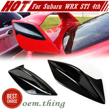 Painted Any Color For Subaru WRX 4th ONLY FIT STI Trunk Spoiler Side Fin Cover