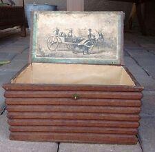 Antique Rare Cabin Home Log Cabin Wooden Cigar Box Black Americana Early 1880's