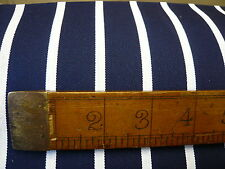 3mts UK PRODUCED NAVY/WHITE BUTCHER STRIPE TWILL FABRIC