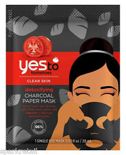 Yes To Tomatoes Detoxifying CHARCOAL Paper Facial/Face Mask 1 x Single Use