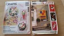 Lot 2 UNCUT CRAFT SEWING Patterns McCalls 8085 & Simplicity 9590 Easter Spring