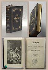 Gesangbuch Evangelisch-Lutherisch 1883 mit Stahlstich & goldgeprägter Leder xz
