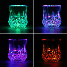 7 Color LED Flash Light Whisky Shot Drink Glass Cup Beer Bar Party Wedding AG