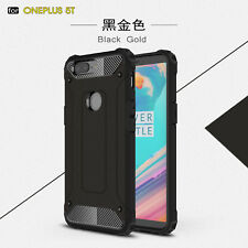 for One Plus 5t 5 T Case Rugged Armor Shockproof Protective Hybrid Phone Cover Black