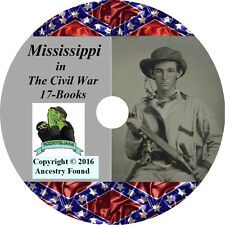 Mississippi Civil War Books History & Genealogy 17 Books on DVD