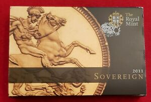 2011 ELIZABETH II GOLD FULL SOVEREIGN IN OFFICIAL ROYAL MINT BOX