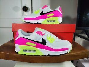 Nike Air Max 90 White Black Pink Blast Watermelon CT1030 100 Womens NEW