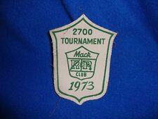 Vintage 1973 Mac Club Tournament Patch