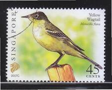 SINGAPORE 2007 YELLOW WAGTAIL $0.45 2ND RE-PRINT (2007C) 1 STAMP IN FINE USED