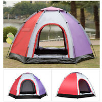 Portable Family Camping Tent 5-6 Person Waterproof Backpack Hiking Cabin Dome